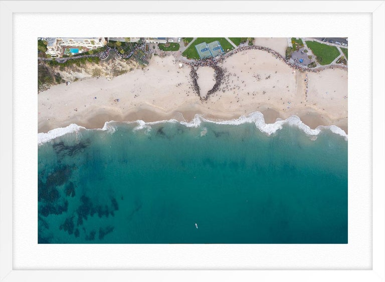 Shoreline Project Laguna Beach CA Night - Blue Color Photograph by Elizabeth Turk