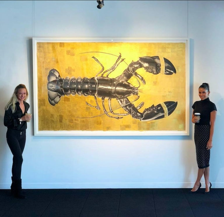 The Golden Key - Contemporary Painting by Elizabeth Waggett
