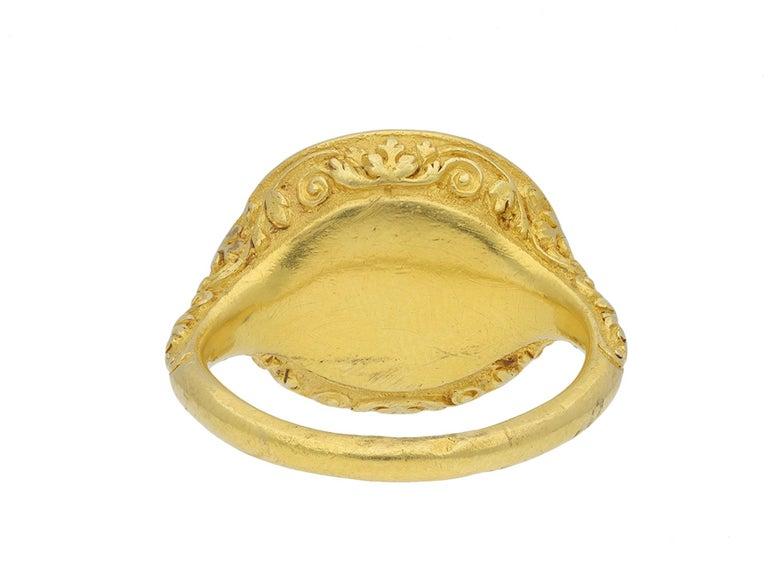 Elizabethan Intaglio Ring Featuring Edward De Vere, circa 1575 For Sale 2