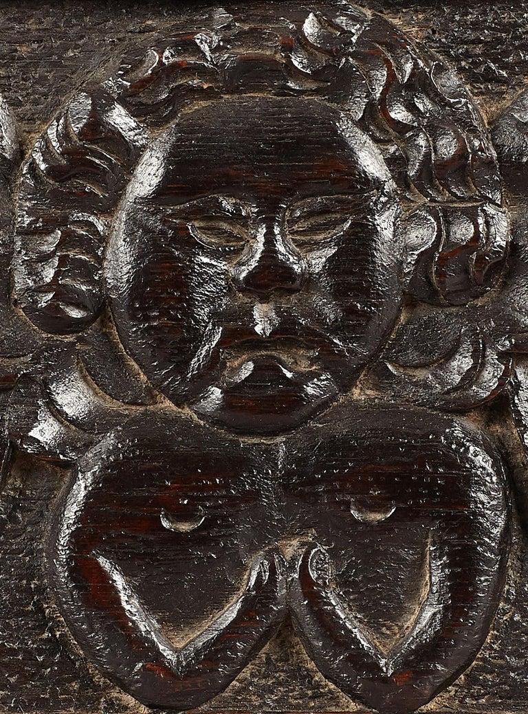 Renaissance Elizabethan Oak Angel Panel, English, circa 1580-1600 For Sale