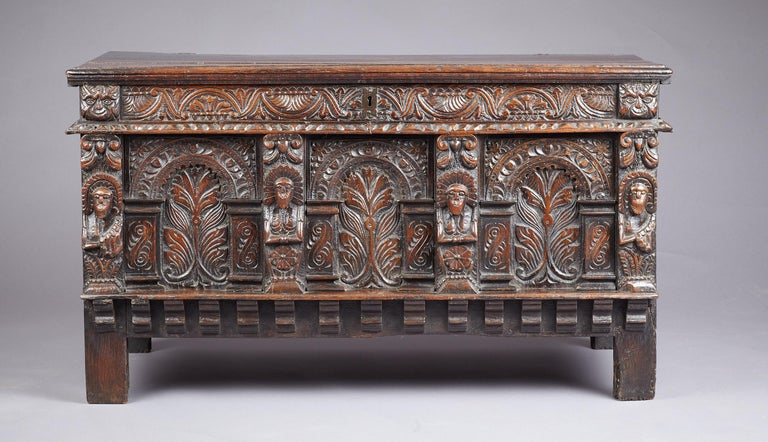 Elizabethan Oak Chest, Somerset, England, circa 1600 For Sale 11