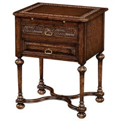 Elizabethan Style Oak Bedside Table