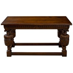 Elizabethan Style Oak Refectory Table