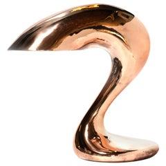 Eliza's Big Question Table Lamp Polished Cast Copper, Jordan Mozer USA 2004-2019