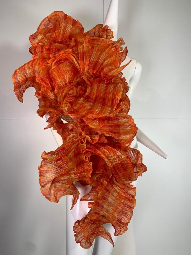 Elke Walter Pleated Flaming Avant Garde Wrap Boa / Bolero In Excellent Condition For Sale In San Francisco, CA