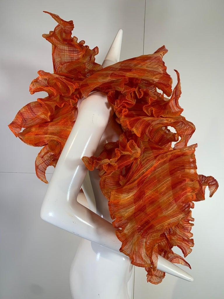 Elke Walter Pleated Flaming Avant Garde Wrap Boa / Bolero For Sale 1