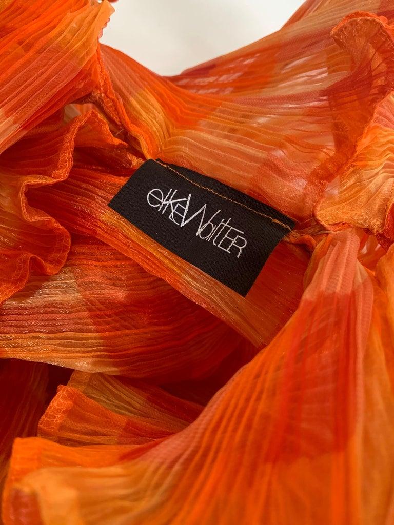 Elke Walter Pleated Flaming Avant Garde Wrap Boa / Bolero For Sale 4