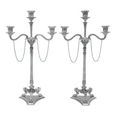 Elkington Neoclassical Candelabra & Centrepiece, Sterling Silver, from 1867