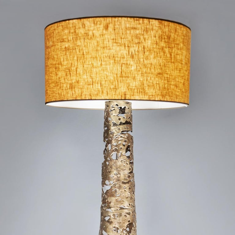 French Ella Floor Lamp in Solid Bronze For Sale