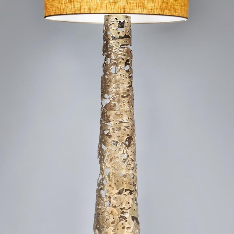 Forged Ella Floor Lamp in Solid Bronze For Sale