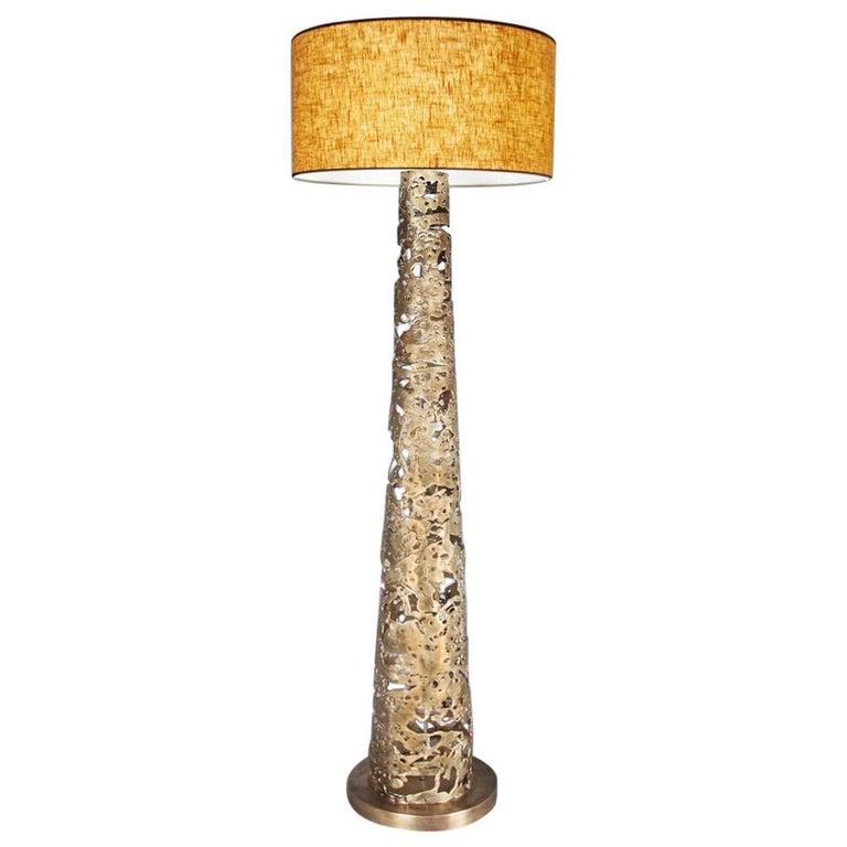 Ella Floor Lamp in Solid Bronze For Sale