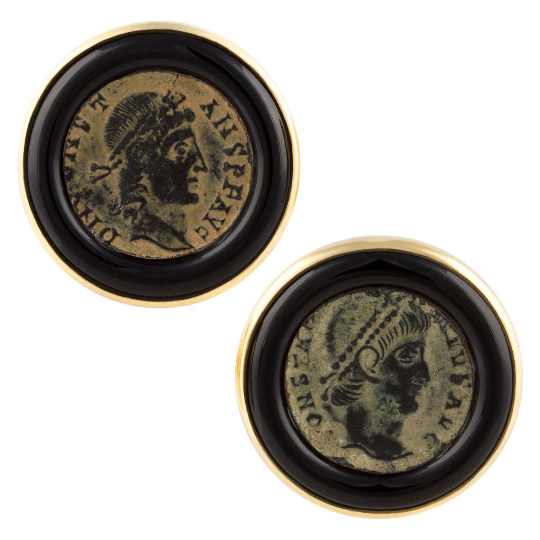 Ella Gafter Gold Coin Cufflinks