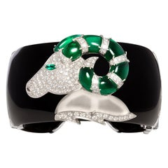Ella Gafter Aries Zodiac Cuff Bracelet with Diamonds