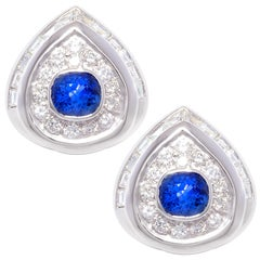 Ella Gafter Blue Ceylon Sapphire Diamond Earrings