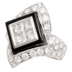 Ella Gafter Diamond Onyx Band Ring