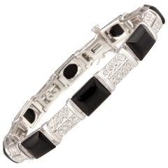 Ella Gafter Diamond and Onyx Bracelet