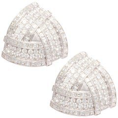 Ella Gafter Diamond Earrings White Gold Clip-On