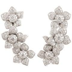 Ella Gafter Diamond Flower Earcuff Earrings