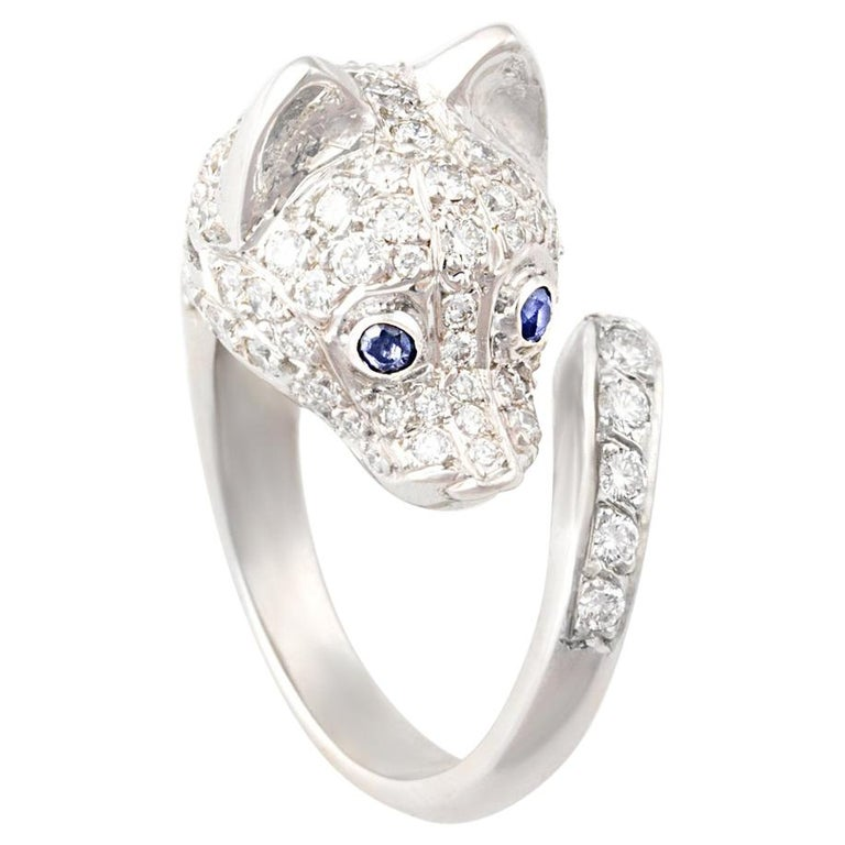 Ella Gafter Diamond Fox Ring For Sale