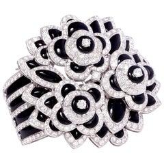 Ella Gafter Diamond Onyx Cuff Bracelet