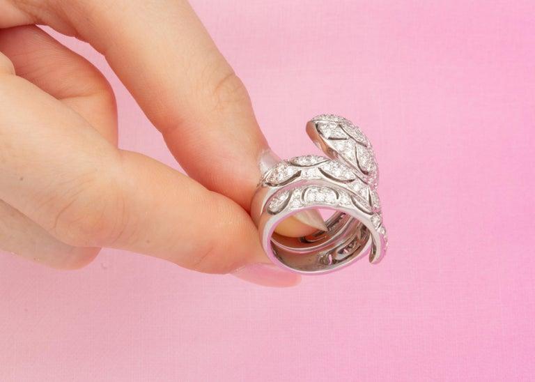 Ella Gafter Diamond Snake Cocktail Ring For Sale 6