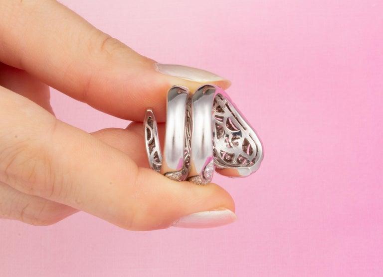 Ella Gafter Diamond Snake Cocktail Ring For Sale 8