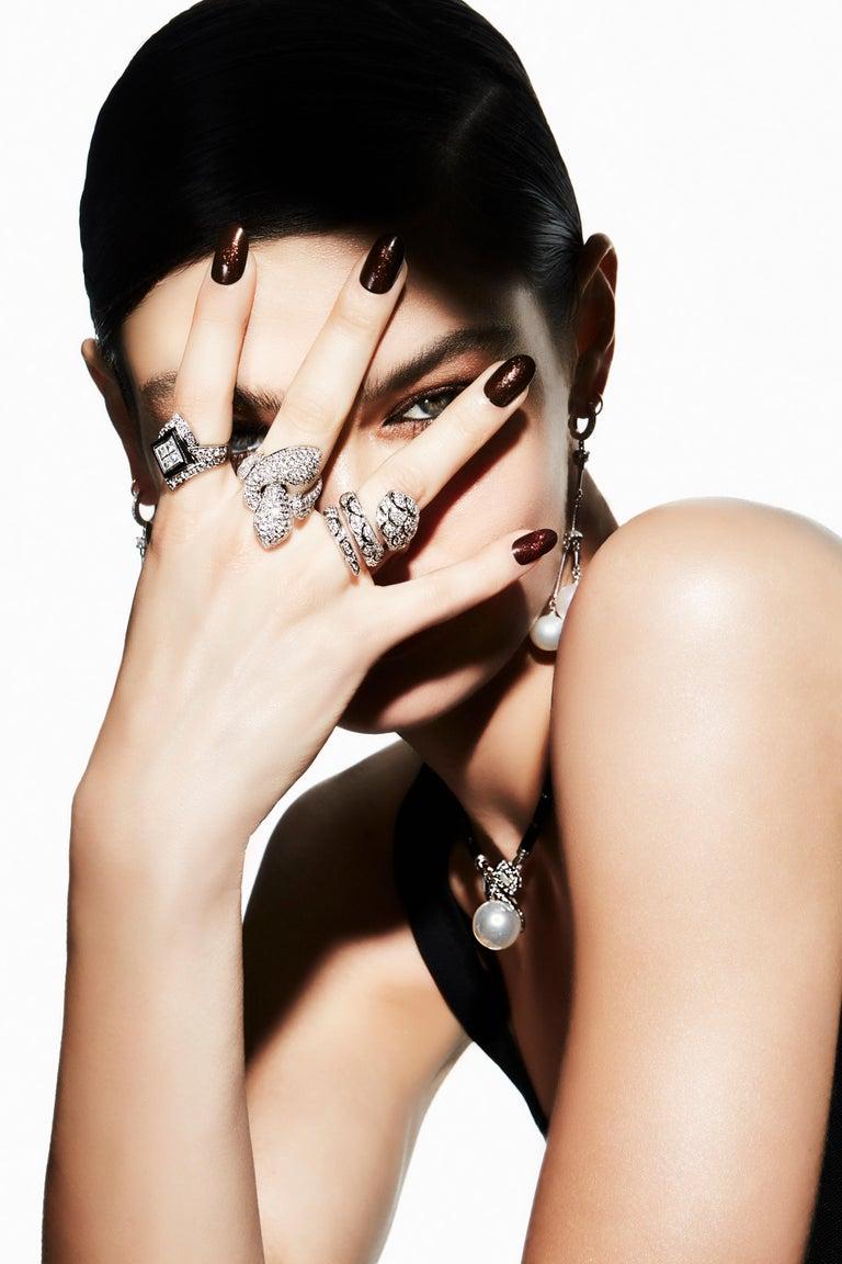 Ella Gafter Diamond Snake Cocktail Ring For Sale 11