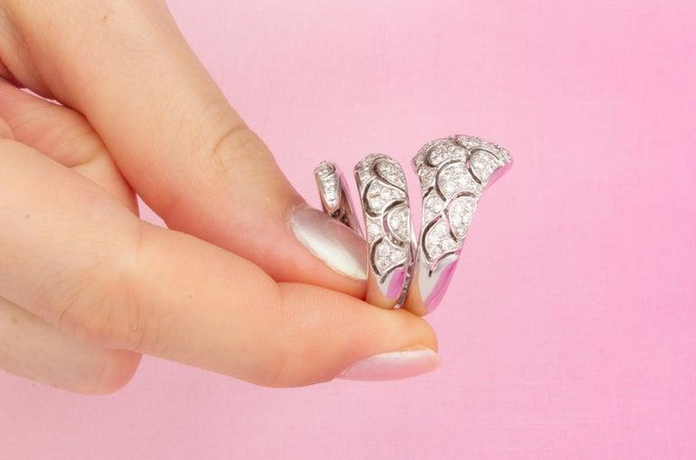 Ella Gafter Diamond Snake Cocktail Ring For Sale 5