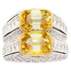 Ella Gafter Diamond Yellow Sapphire Ring