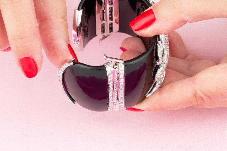 Ella Gafter Dragon Diamond Cuff Bracelet For Sale 4