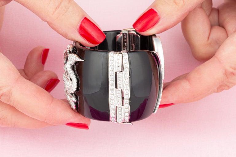 Ella Gafter Dragon Diamond Cuff Bracelet For Sale 1