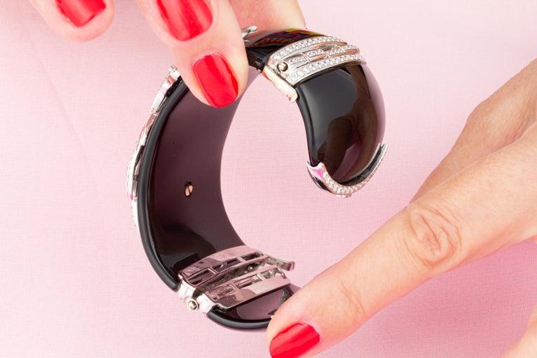 Ella Gafter Dragon Diamond Cuff Bracelet For Sale 2