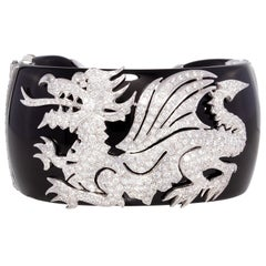 Ella Gafter Dragon Diamond Cuff Bracelet
