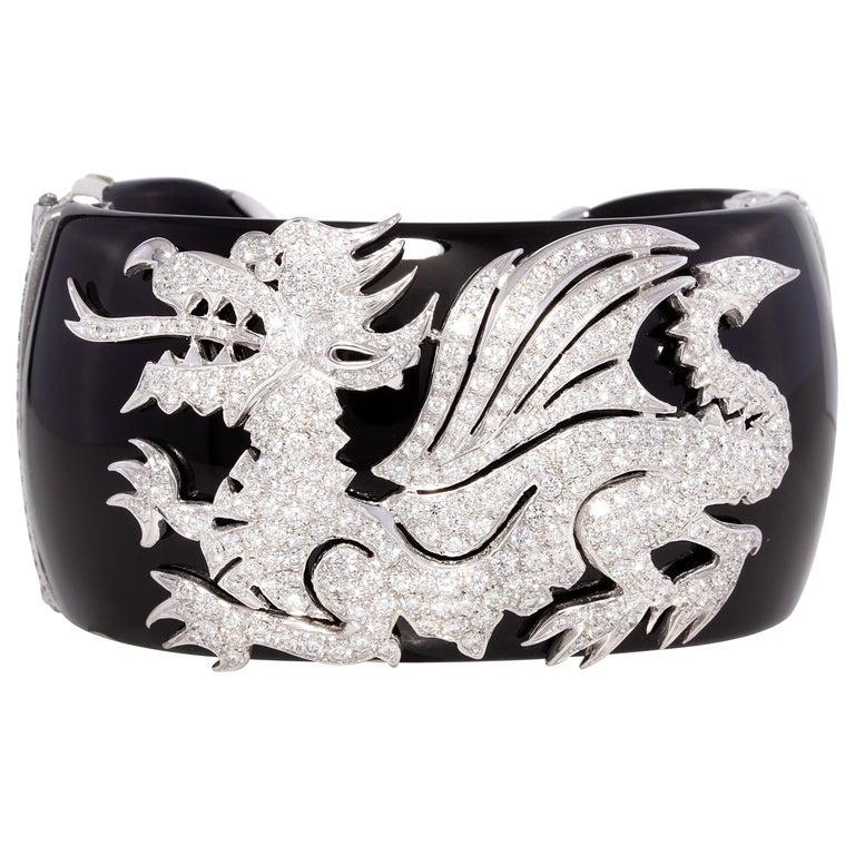 Ella Gafter Dragon Diamond Cuff Bracelet For Sale