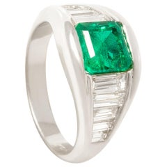 Ella Gafter Emerald Diamond Band Ring