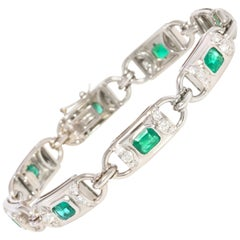 Ella Gafter Emerald Diamond Flexible Tennis Bracelet