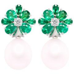 Ella Gafter Emerald South Sea Pearl Earrings