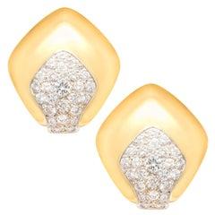 Ella Gafter Gold Diamond Clip-On Earrings