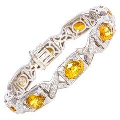 Ella Gafter Golden Yellow Sapphire Diamond Bracelet