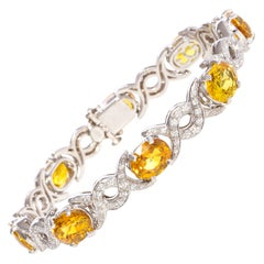 Ella Gafter Golden Yellow Sapphire Diamond Bracelet