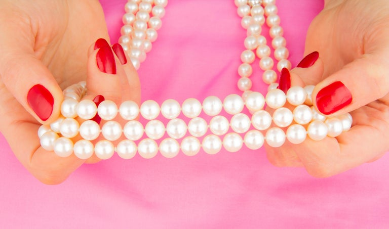 Ella Gafter Pearl Strand Necklace In New Condition For Sale In New York, NY