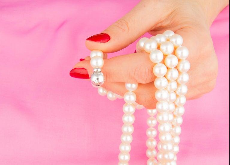 Ella Gafter Pearl Strand Necklace For Sale 1