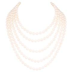 Ella Gafter Japanese Akoya Strand Pearl Necklace