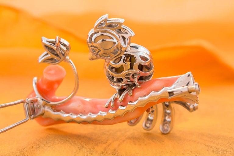 Ella Gafter Love Bird Diamond Brooch Pin For Sale 7