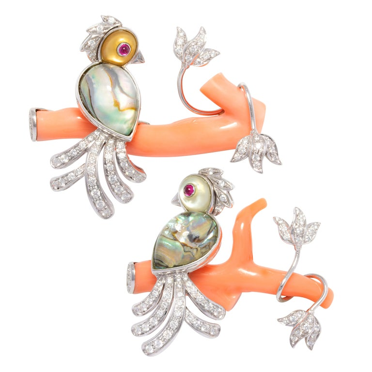 Ella Gafter Love Bird Diamond Pin Brooch  For Sale 7