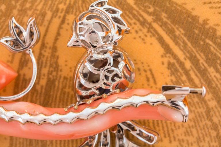 Ella Gafter Love Bird Diamond Brooch Pin For Sale 4