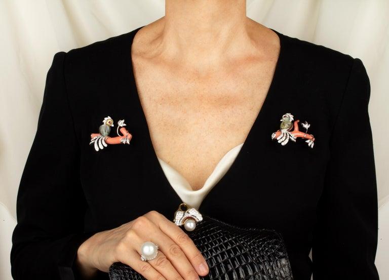 Ella Gafter Love Bird Diamond Brooch Pin For Sale 12