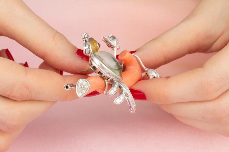 Ella Gafter Love Bird Diamond Brooch Pin For Sale 1