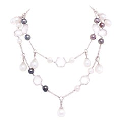 Ella Gafter Pearl and Diamond Necklace
