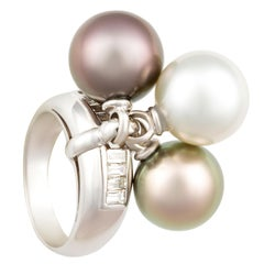 Ella Gafter Pearl and Diamond Ring